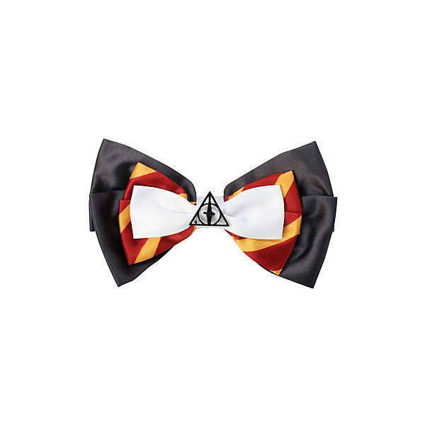 Harry Potter Cosplay Hair Bow Hot Topic (£3.99) ❤ liked on Polyvore featuring accessories, hair accessories and bow hair accessories