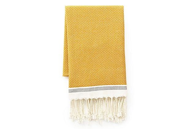 Mediterranean Bath Towel, Mustard on OneKingsLane.com