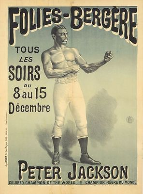 #Vintage folies bergere bare #knuckle boxing #poster a3 print, View more on the LINK: http://www.zeppy.io/product/gb/2/291470311537/