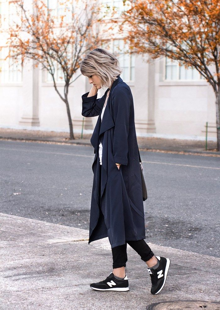 Navy + Black Coat | Jeans | New Balance Women's Fashion www.joandkemp.com