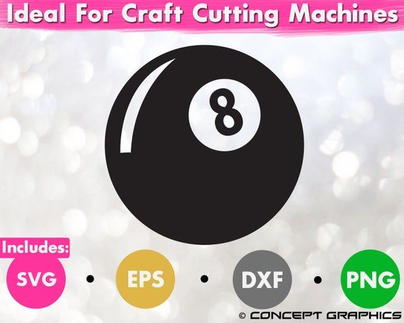 Funny Billiards 8 Ball Pool Clipart Svg Eps Dxf Png Magic Etsy In 2021 Pool Balls Clip Art Svg
