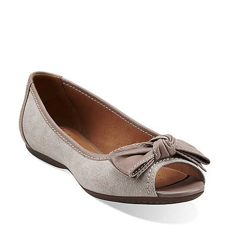 Aldea Joy in Natural Fabric & Nubuck  Womens Shoes from Clarks