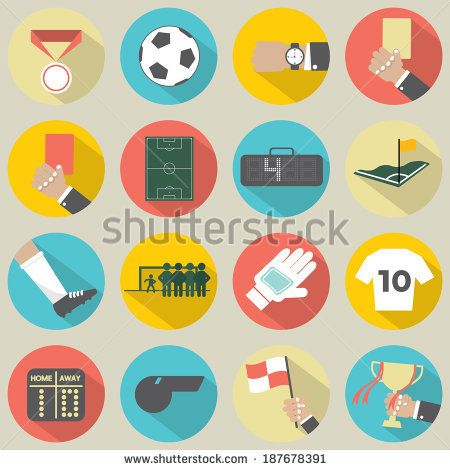 flat sports icons - Google Search
