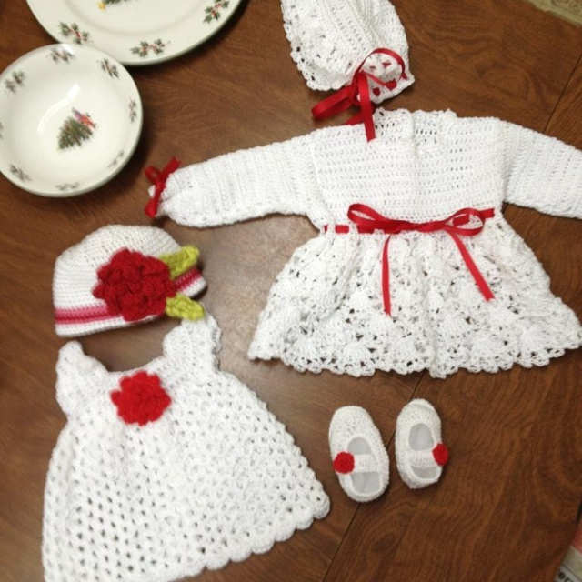 Crochet Baby Sets Crocheted Clothes
