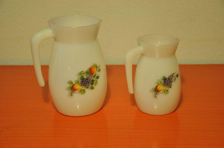 Vintage Arcopal  Jugs. Fruit de France pattern