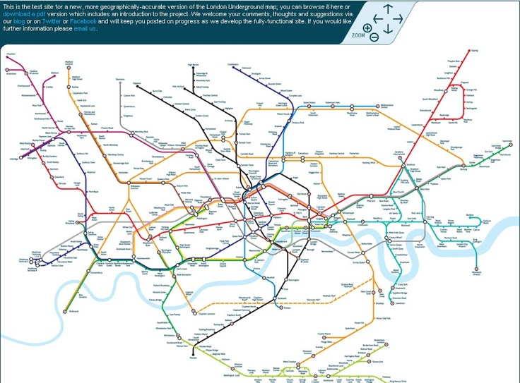 Geographically accurate Tube map Neat maps in short that really