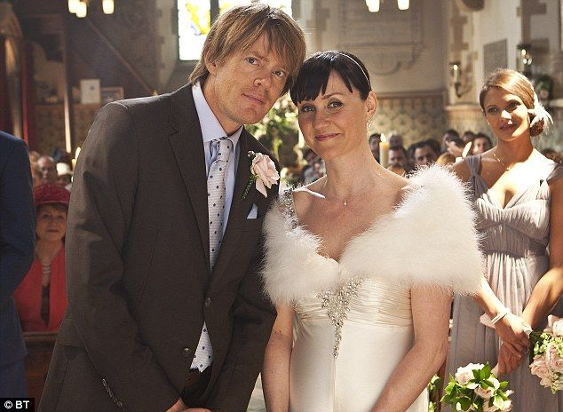 Practice run: Kris Marshall is arguably most well-known for playing Adam in the long-running BT ad campaign. His character married  Esther Hall's Jane in a traditional country wedding