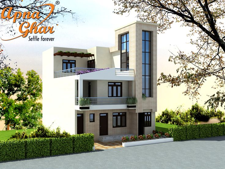 Front Elevation Of 240 Yards House : Floor modern triplex house design click on this link