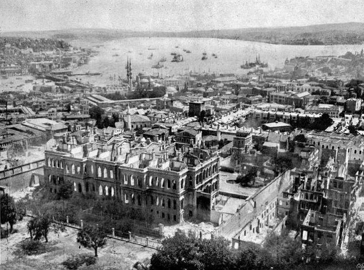 ABD'den çıkan görülmemiş Osmanlı fotoğrafları - Yangın sorası Fatih'teki Ali Paşa Konağı 1909