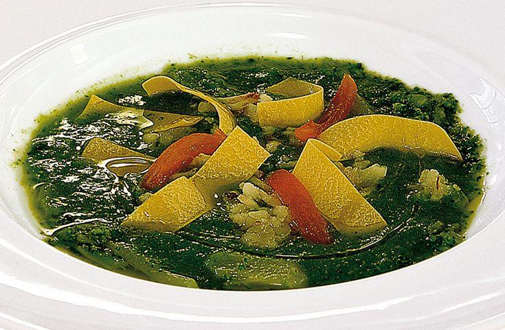 Zuppetta di arzilla e broccoli con pappardelle e ricotta asciutta  #lamadia #lamadiatravelfood #food