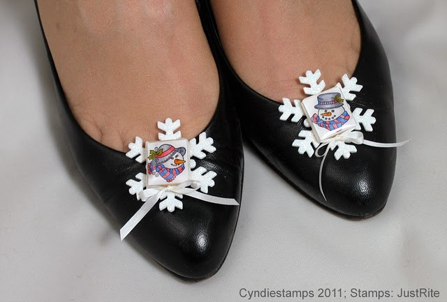 JustRite Entry #6 Cyndie - Shoe Ornaments recycled scrabble tiles