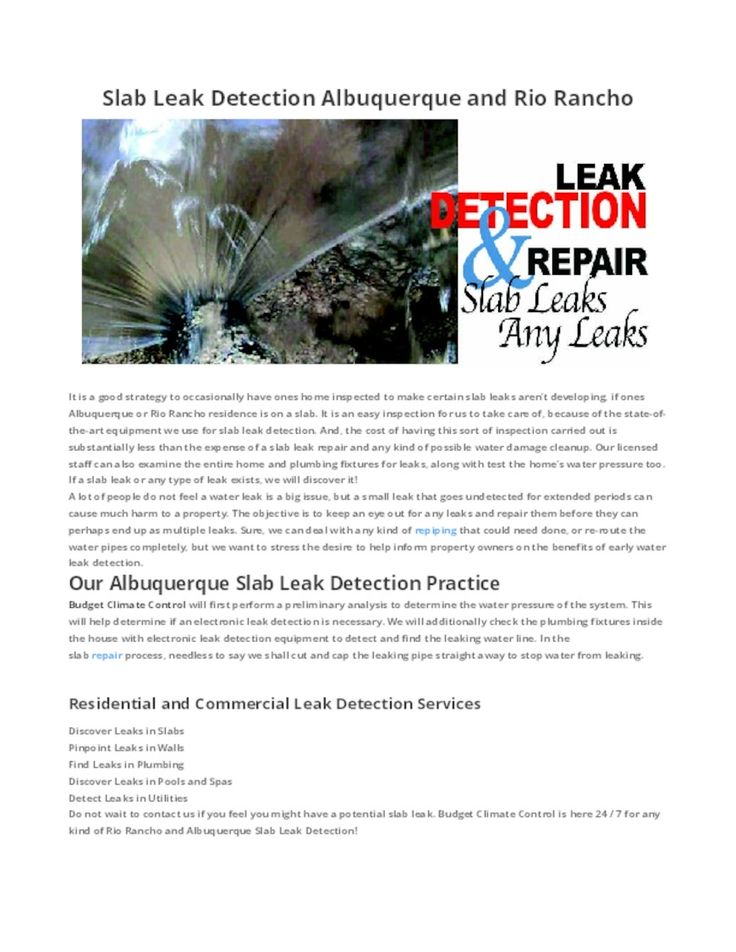 8 Best Slab Leak Detection Albuquerque Images On Pinterest