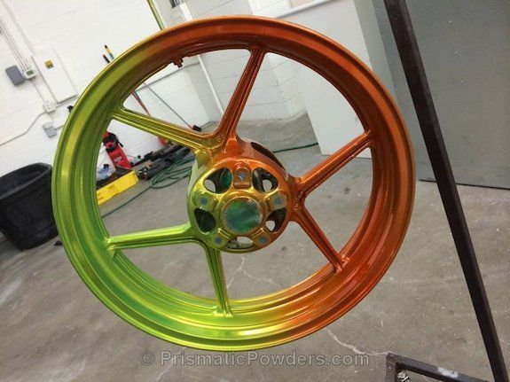 3 Color process, picked by customer, Orange, Green, Yellow, wheels, Custom, Powder Coated, Powder Coating,