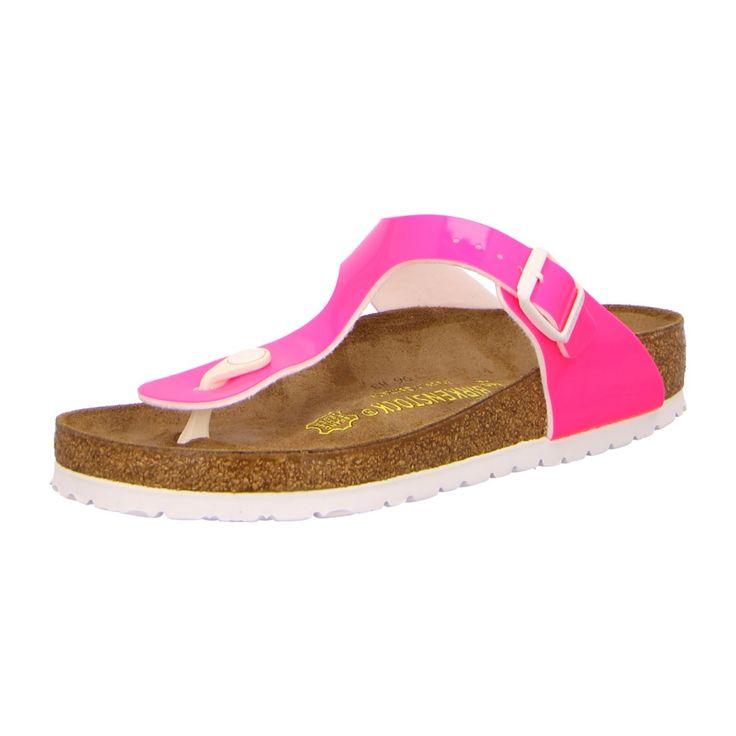 NEU: Birkenstock Pantoletten Zehentrenner Gizeh - 847241 - patent neon pink  -