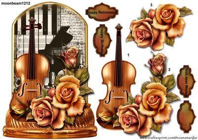 Music male Globe on Craftsuprint designed by Marijke Kok - Beautiful design for…