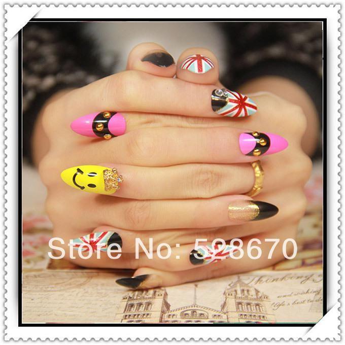 ventes en gros hot-drapeau britannique faux ongles patch peut être apposé le faux ongles nails suit belong mash série