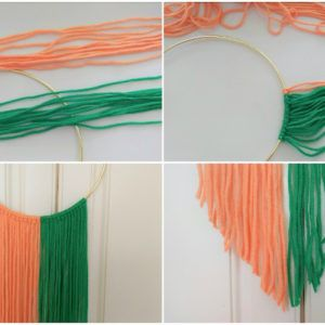 diy yarn wall hanging with metal hoops korean bedroom ideas