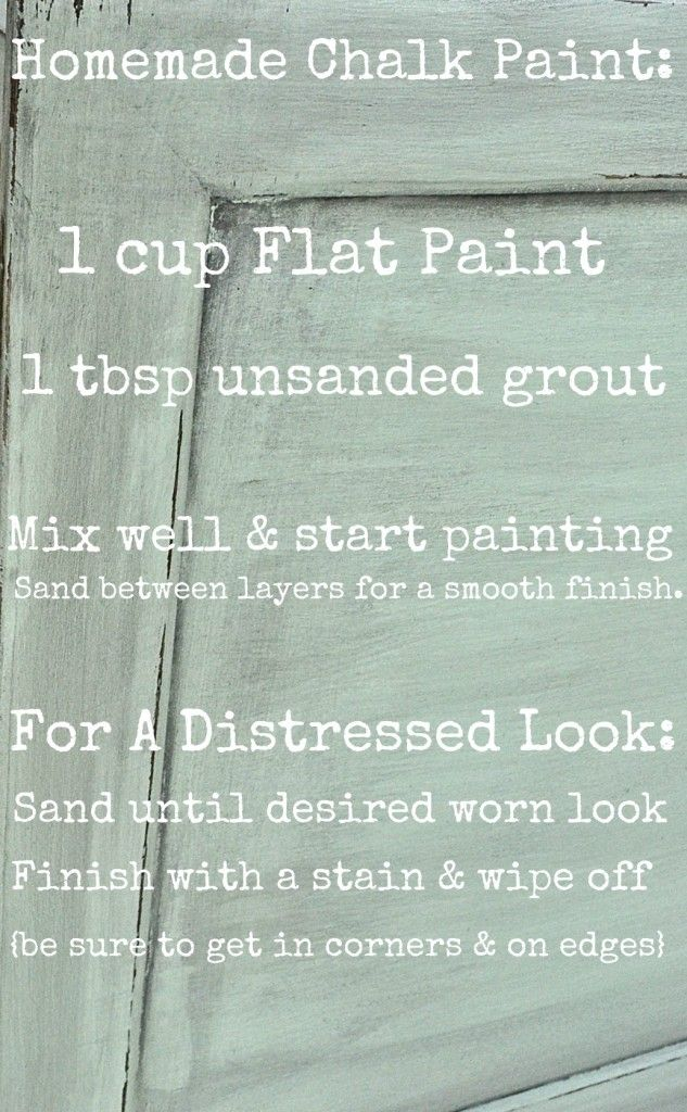 How to make your own Chalk paint & how to distress with chalk paint. #paintingfurniture #DIYchalkpaint