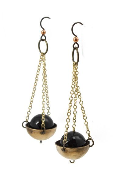 These Libra Earrings are intense in the best way possible. These would go great with a simple black ensemble. mooreaseal.com
