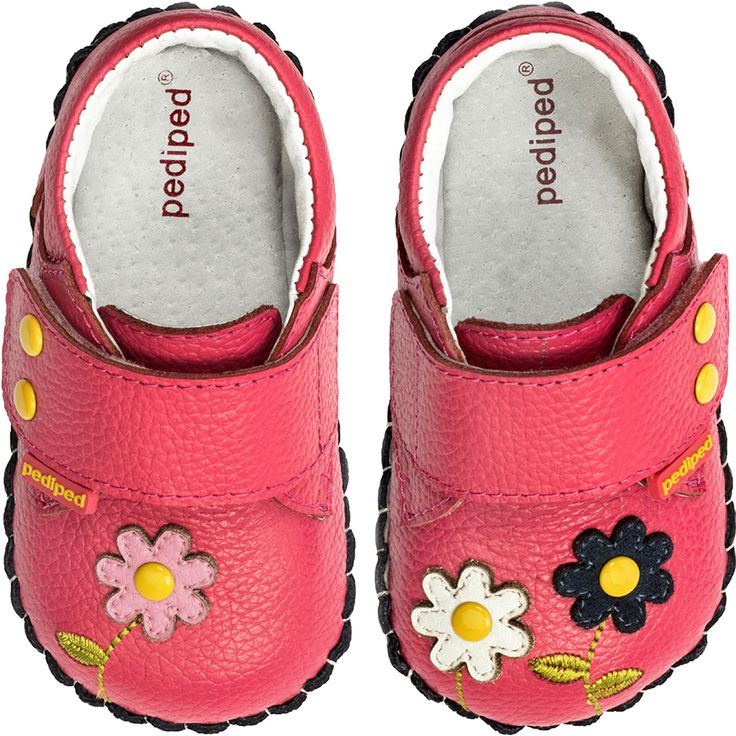 pediped Originals® are the best first shoe for infants and the best choice as children learn to walk. The soft and flexible soles are recommended by pediatricians and podiatrists because they closely mimic barefoot walking.