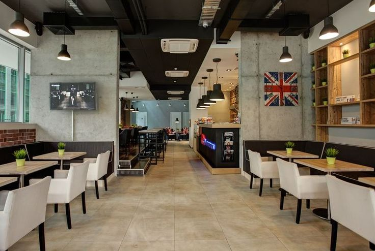 Café London - кафетерии - GoGuide.bg  ::    web: https://www.facebook.com/CafeLondonBG  Period: Late 2012 - 2013  :: Location: Sofia : Bulgaria :: Style: Industrial : England : Exposed ceiling  ::   Description: Interior design project for a building management company I am currently working for.   Contributed with own ideas and guided clients vision throughout the design process.
