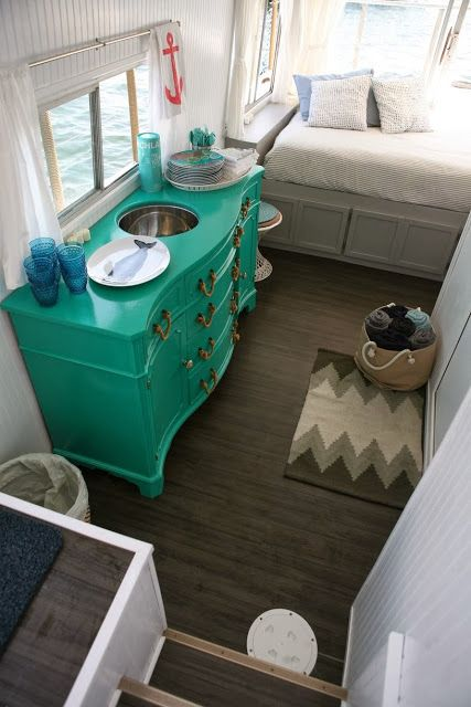 Houseboat decor...inspirational.