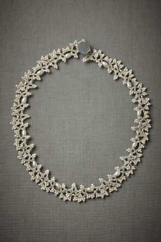carolingian necklace with cultivated pearls, glass pearls, cotton, polyester, mother-of-pearl