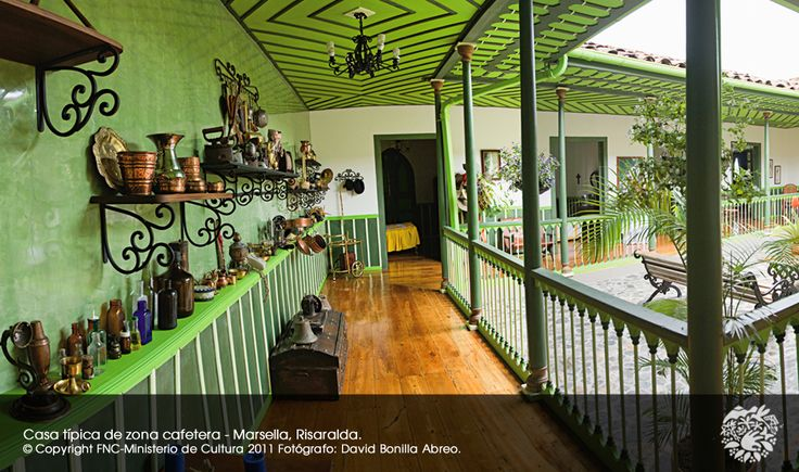 PCC - Paisaje Cultural Cafetero. Casa típica de la zona cafetera. Marsella Risaralda