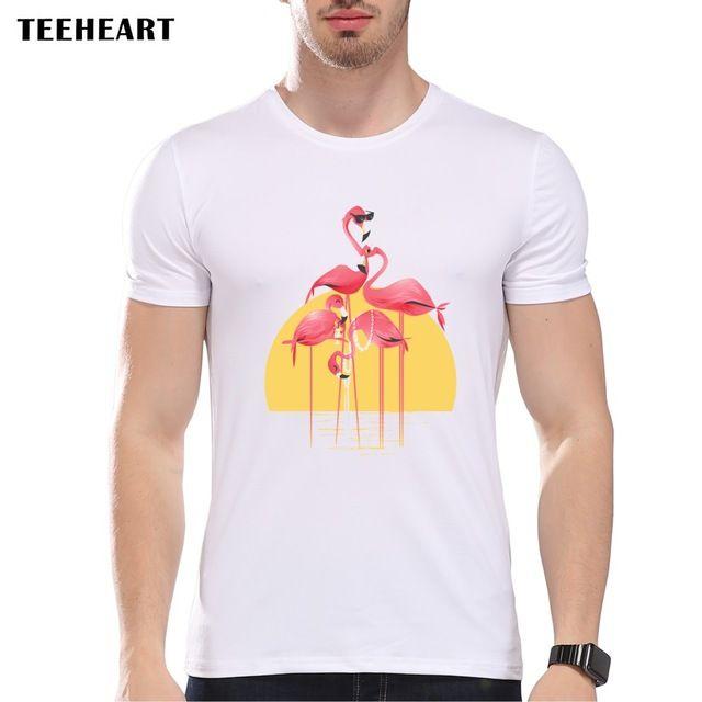 TEEHEART 2017 Fashion New Design T Shirt  FLAMING TALL T-SHIRT Men Cool Short Sleeve Retro Top Tees pb042