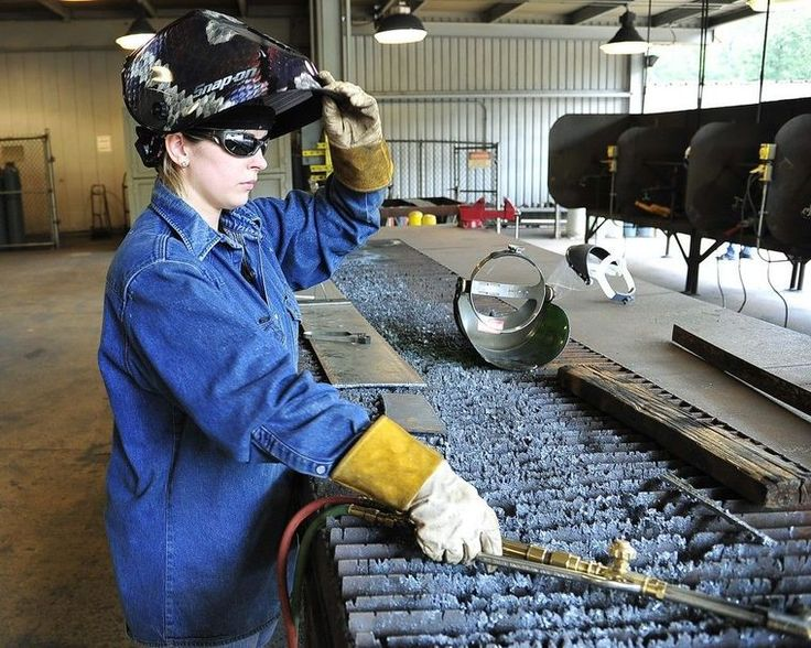 San Jacinto College expands welding training to meet high demand - Girls can be welders and college welding instructors too (Amber Tyler in pic)