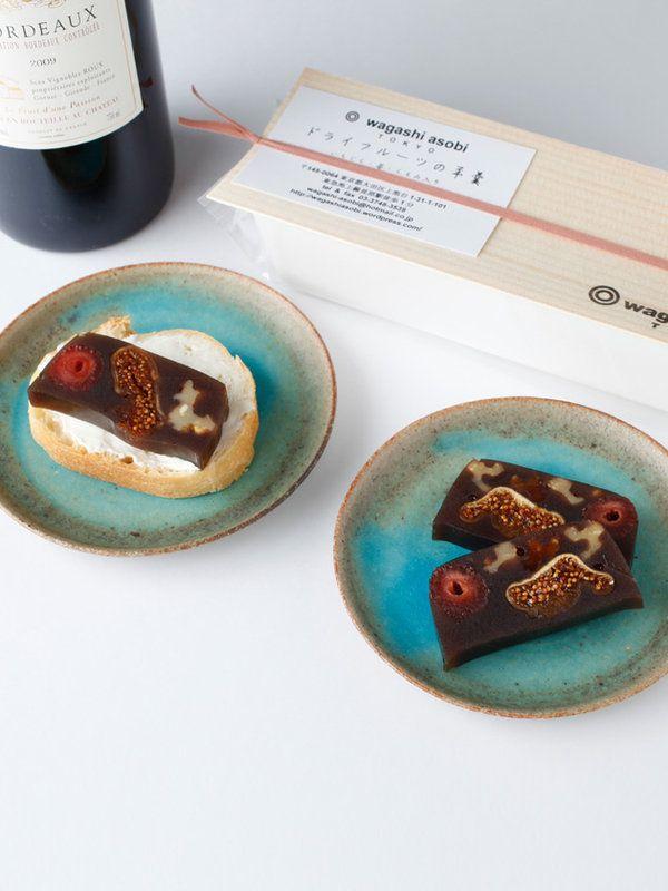 「wagashi asobi」の「ドライフルーツの羊羹」