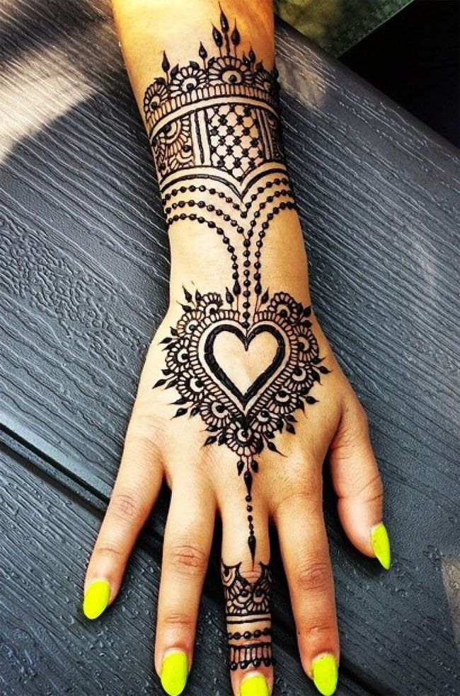 A List of Outstanding Heart Mehndi Designs 2017 - SheIdeas