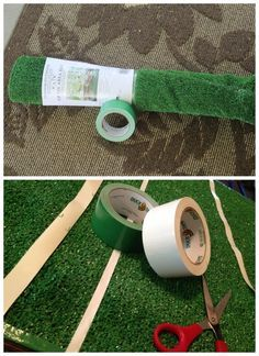 This DIY football field is perfect decor for at-home game watching...or you can roll it up and take it with you to the tailgate!