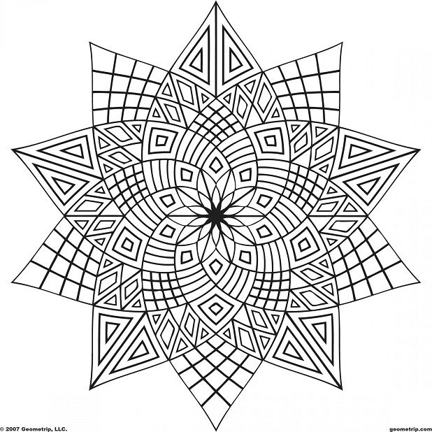 Cool Coloring Pages For Older Girls Geometric Coloring Pages Pattern Coloring Pages Abstract Coloring Pages