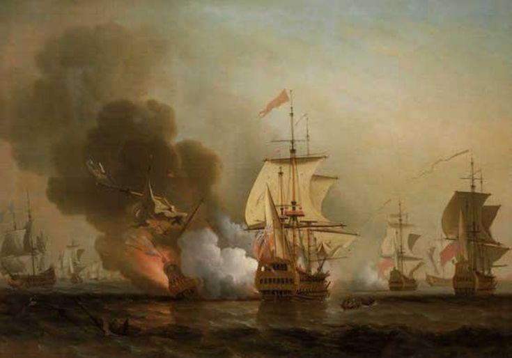 Galeón San José-El 'San José' se hunde por el fuego del 'Expedition'