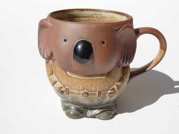 Koala Mug Hand Made Ceramic Coffee Cup