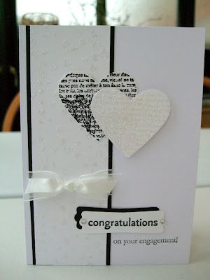 two tone engagement card, MaKing Papercrafts