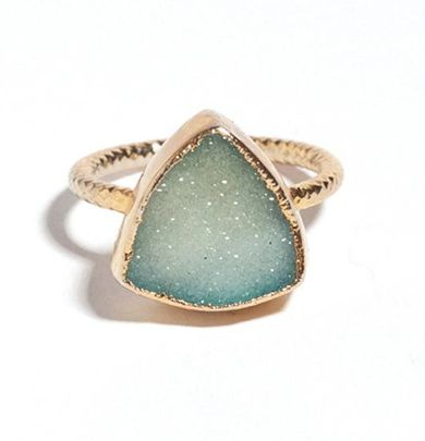mint druzy ring ... (credits) repinned by Jourdan Dunn on 'Hottest of the Honey Pot' click pic to follow more content like this ♥'all