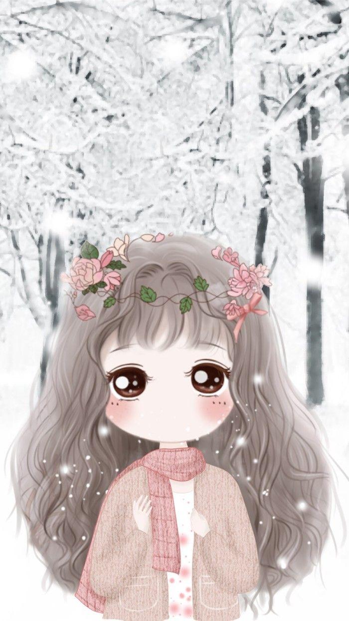 Cute Cartoon Baby Girl Wallpaper 小薇的世界光 插画 壁纸 Cute 1 Chibi Chibi Girl Dan Beautiful