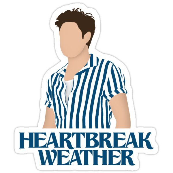 Niall Horan Heartbreak Weather Sticker By Rafatakami In 2021 Stickers Niall Horan Cute Stickers