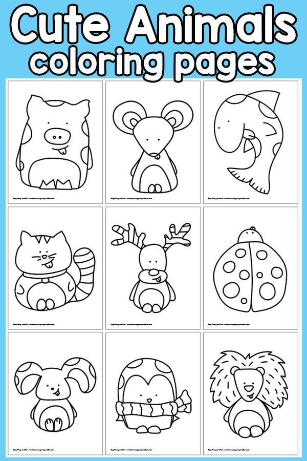 Cute Animals Coloring Pages Coloring Pages Animal Coloring Pages Easy Coloring Pages