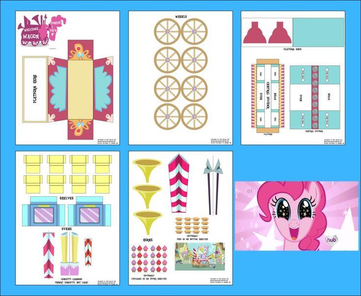 MLP - Pinkie Pie's Welcome Wagon Papercraft by RocketmanTan on DeviantArt