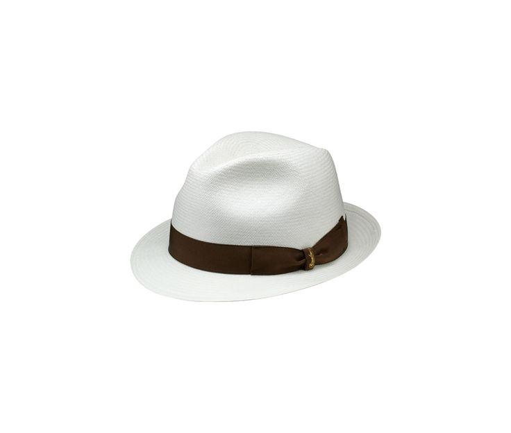 Thin panama hat. Product code: 141055 Shop it here: http://shop.borsalino.com/en/mans-collection/spring-summer/straw-hats/thin-panama-narrow-brim