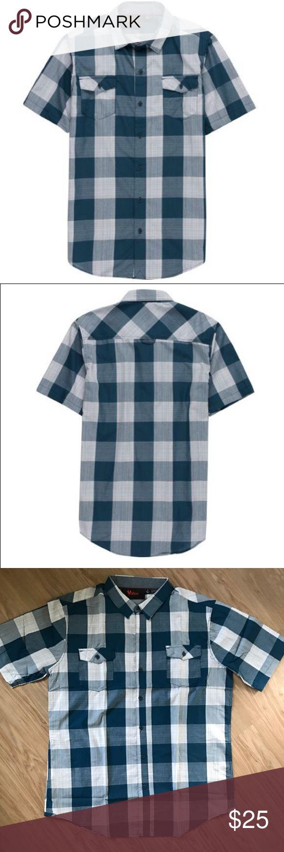 "Stoic Allegheny Plaid Button Up Size XL NEW Keep that dreadful east coast humidity at bay with a little help from the breezy Allegheny Shirt for Men by Stoic. This timeless button-up features short sleeves for pure summer style, while the cotton fabric lends a comfortable fit and feel. Pair with your go-to chino shorts or swim trunks for an equally laid-back look.       100% Cotton fabric lends a breezy feel Regular fit. Size XL. Flat lay measurement: 22"" chest 