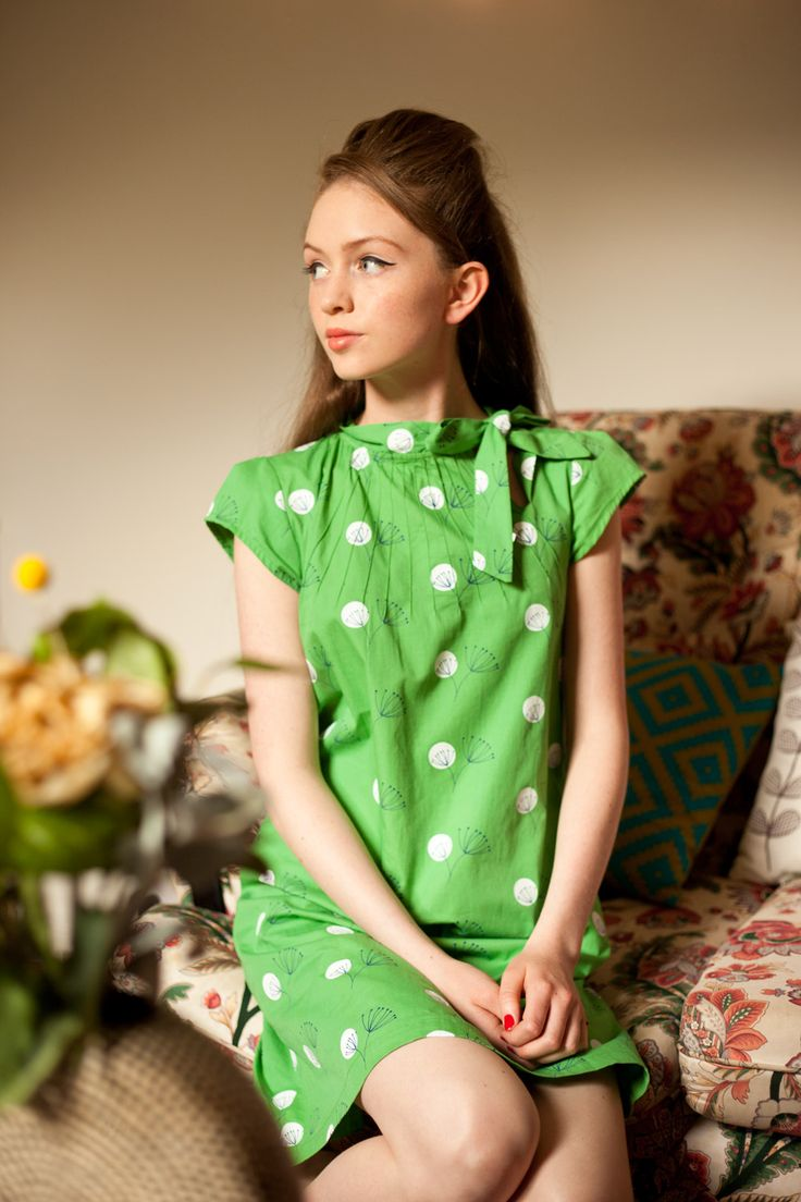 1960's inspired dandelion print Twiggy dress from Circus #60s #1960s #retro #dress
