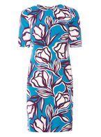 Womens **Lily & Franc Multi Coloured Graphic Tulip Shift Dress- Multi Colour