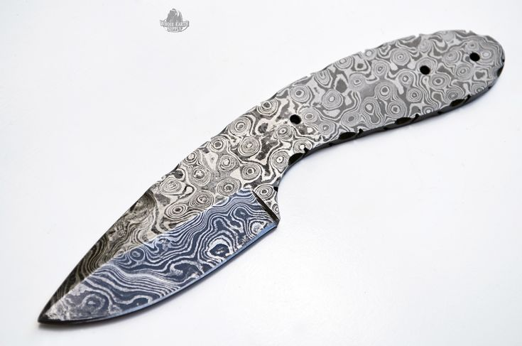 Damascus Steel Drop Point Knife Blank Making Blade Hunting Skinning Knives New
