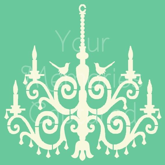 68 best stencil images on pinterest cardboard chandelier items similar to bird chandelier stencil on etsy mozeypictures Images