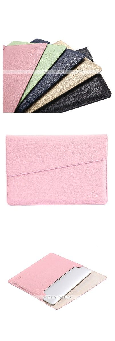 Envelop Design Slim PU Leather Laptop Sleeve Carrying Case Bag for Macbook Air 11.6""