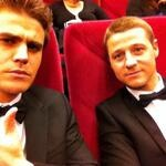 On a romantic date with @ben_mckenzie appropriately seeing the new HBO Liberace film. Paul wesley